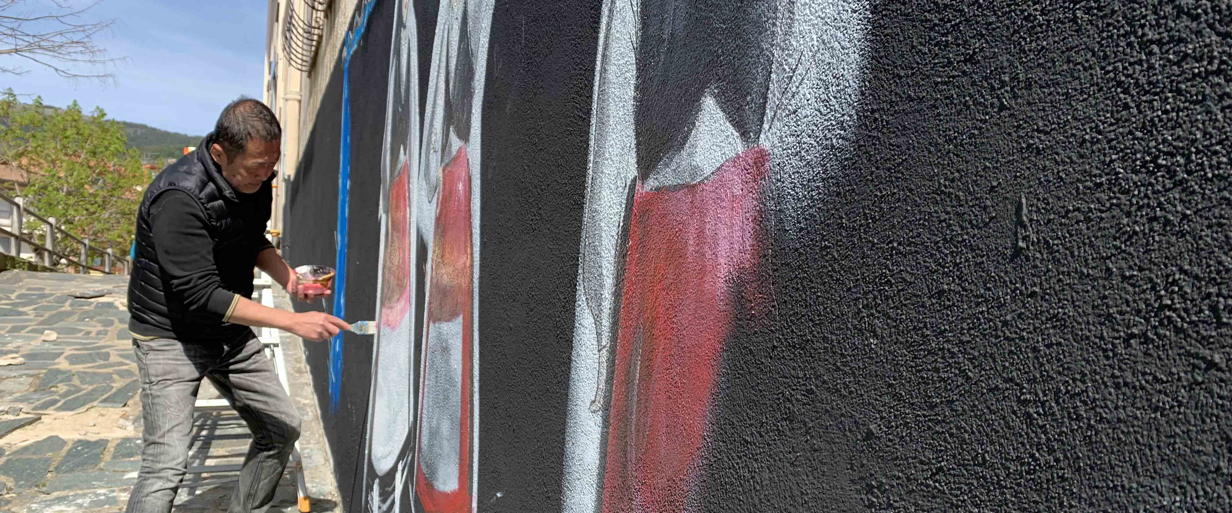 Tonara con lo chef muralista è più vicina a Tokyo
